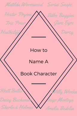 How to Name a Book Character